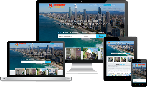 Surfers Gold Coast displayed beautifully on multiple devices